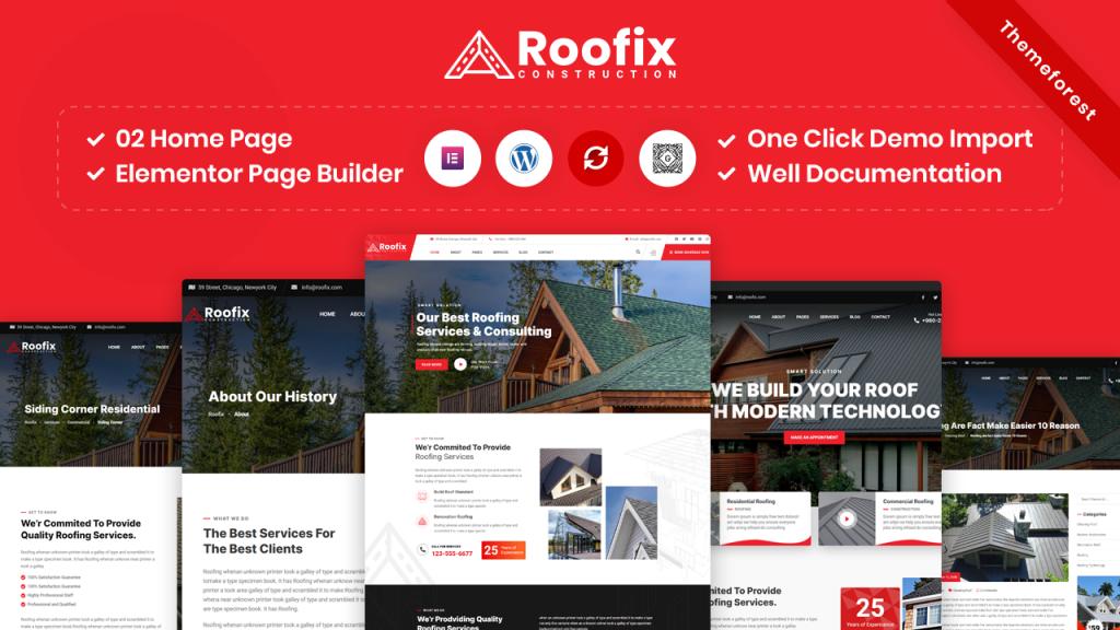 Roofing WordPress template