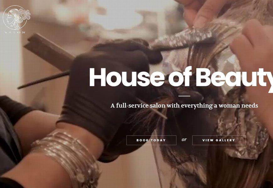 SALON is a fantastic beauty salon WordPress theme