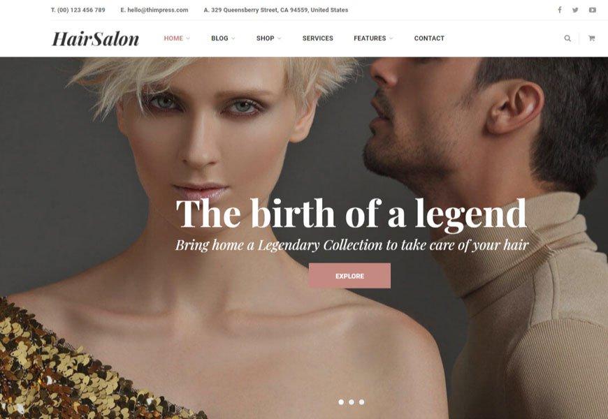Salox is the hair salon WordPress theme