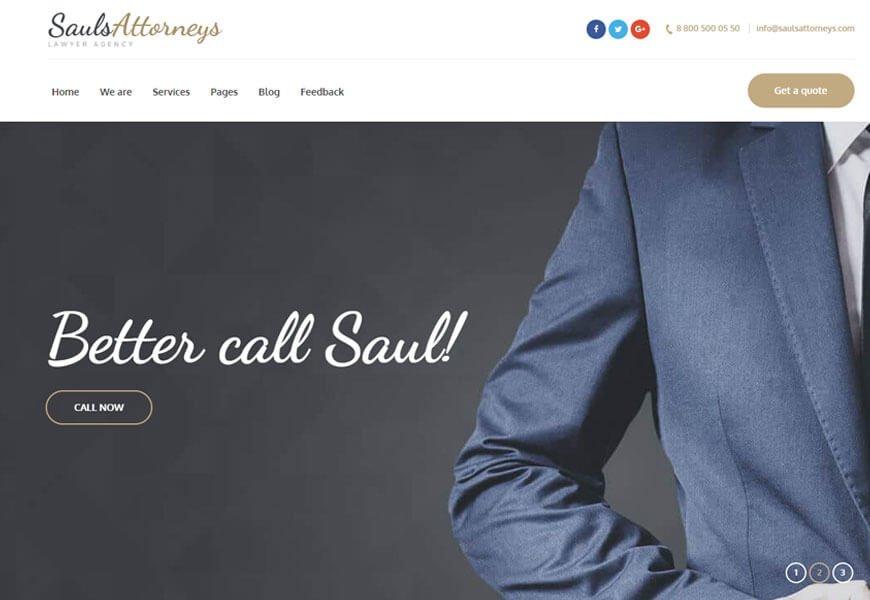SaulsAttorneys is lawyer WordPress theme