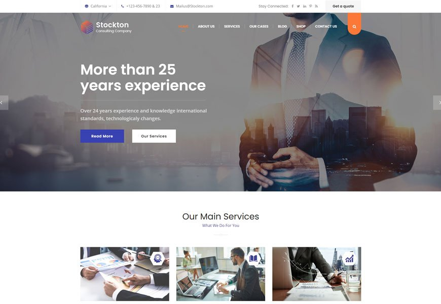 startup consulting website template