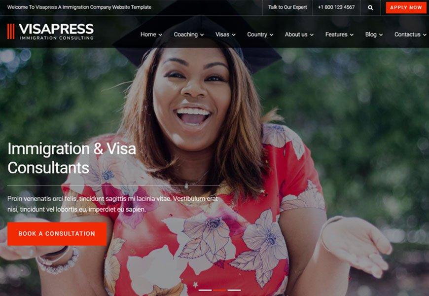 visa consulting website template