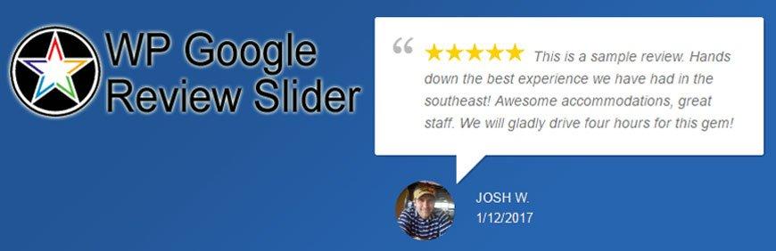 google reviews WordPress plugin