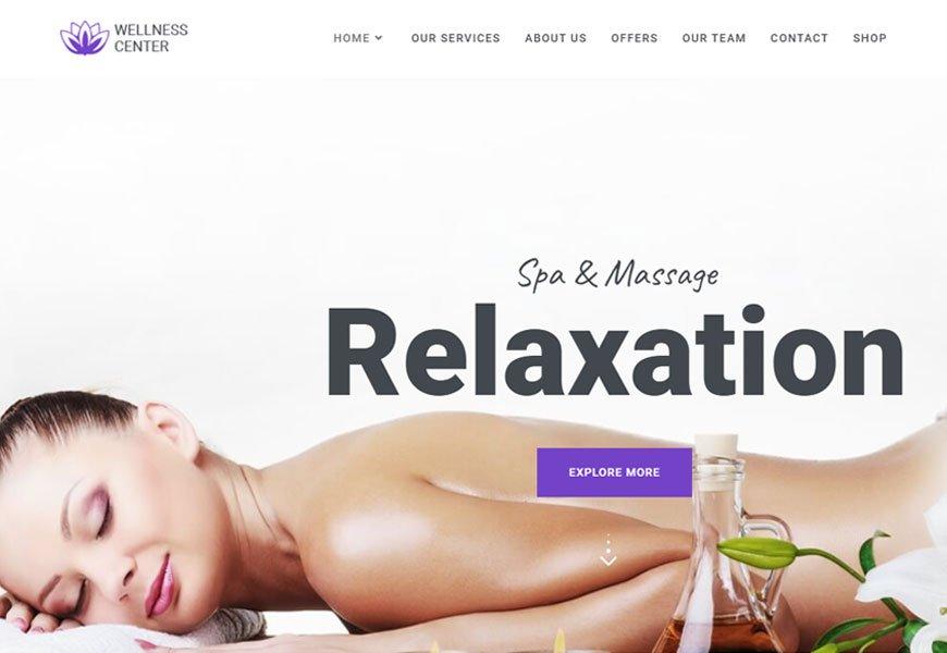 Wellness Center - spa and salon WordPress theme