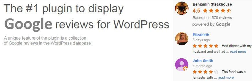 Google review WordPress plugin