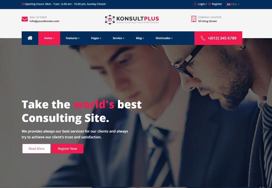 Consulting Plus is a robust business consulting website template