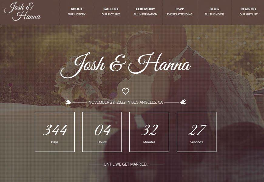 Aimer - best wedding website templates