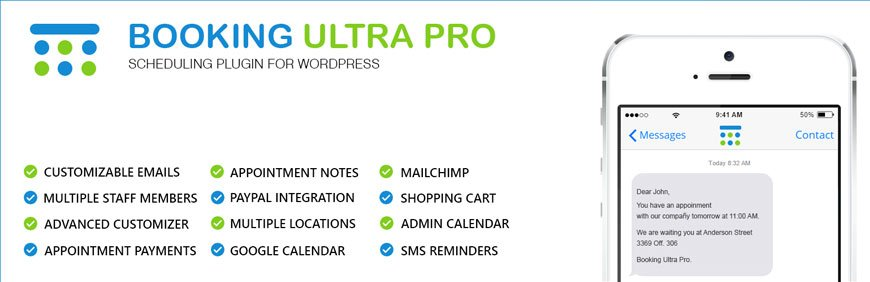 Booking Ultra Pro is a multipurpose booking plugin