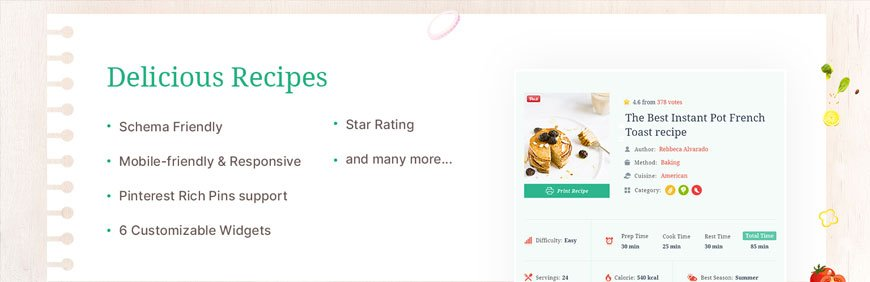 Delicious Recipes - best WordPress plugin for recipes R
