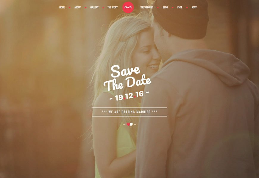Forever is another best wedding website templates