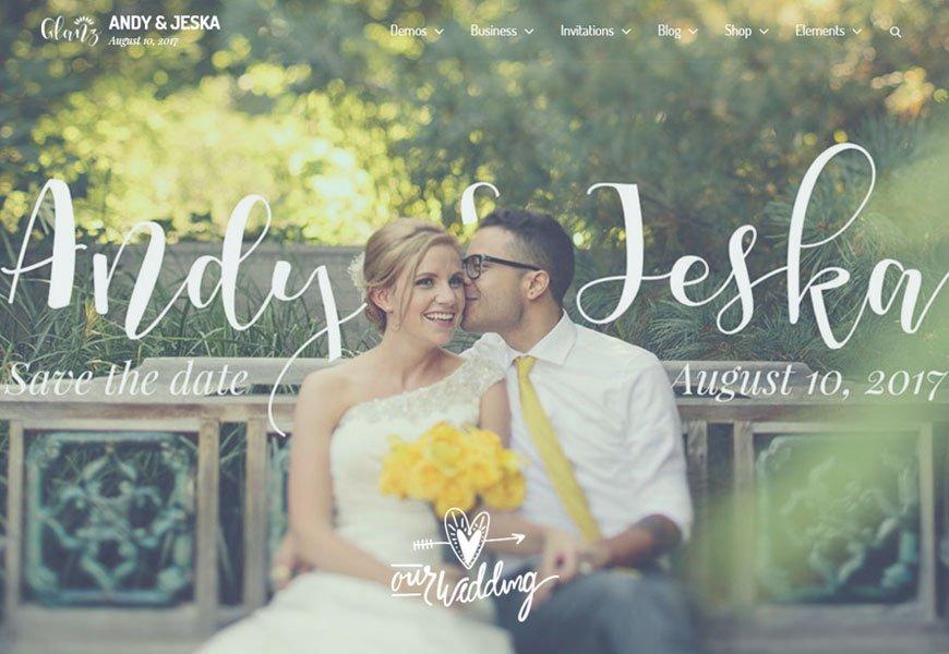 Glanz - best wedding website templates