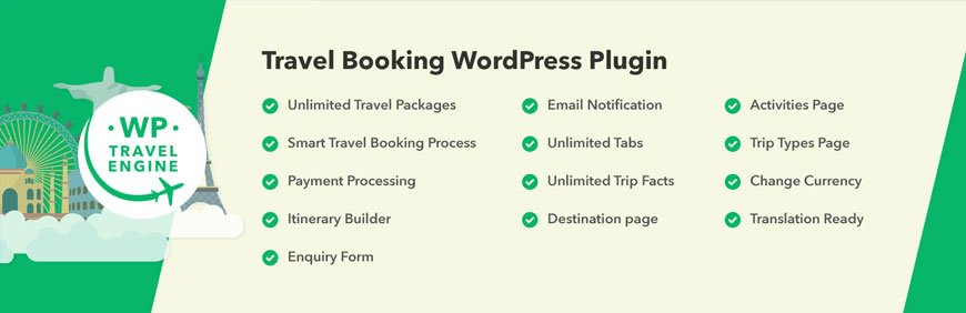WP Travel Engine is a fantastic WooCommerce booking plugin