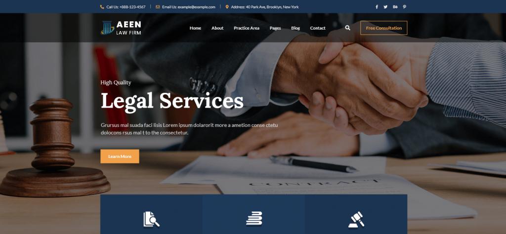 Aeen - Lawyer WordPress theme