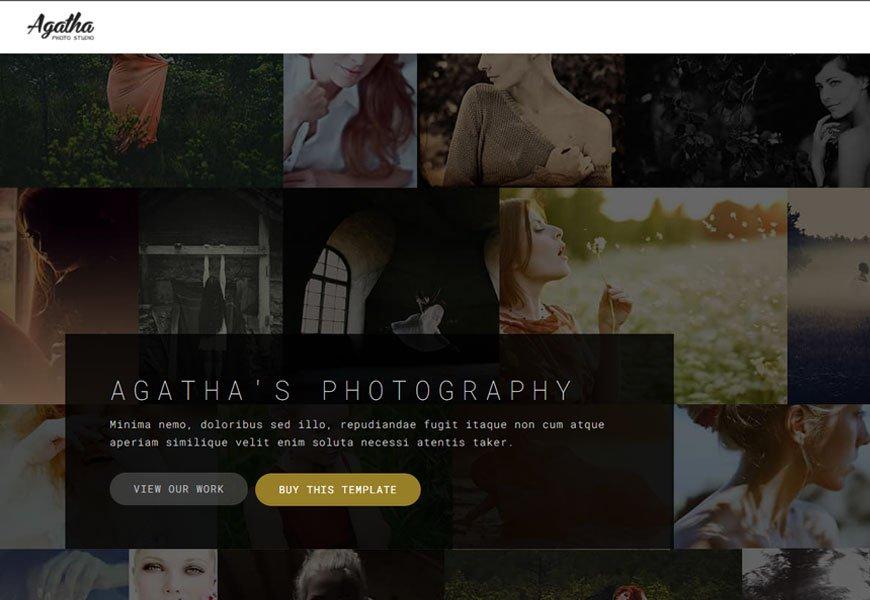 Agatha - portfolio website template