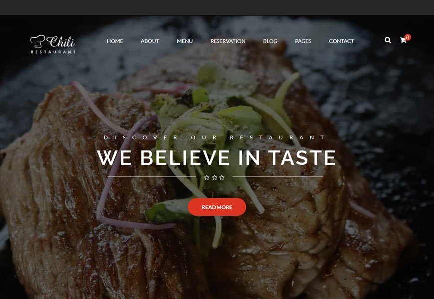 Chili - one of the best restaurant website template