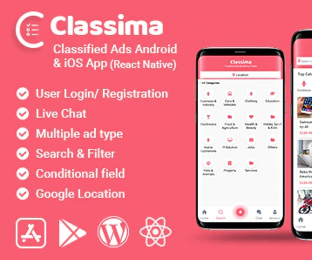 Classima - Classified ads Android & iOS App