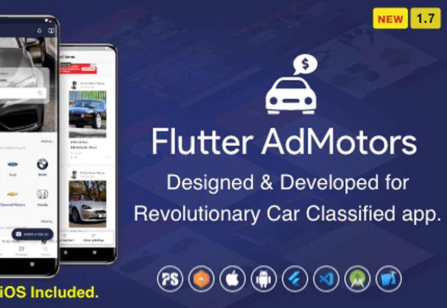 Flutter AdMotors - classified app codecanyon