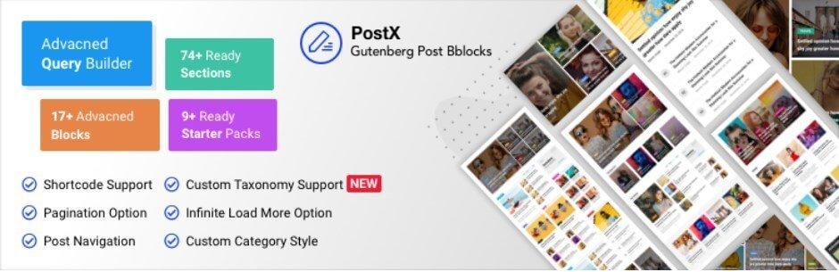 PoxtX - WordPress post grid plugin