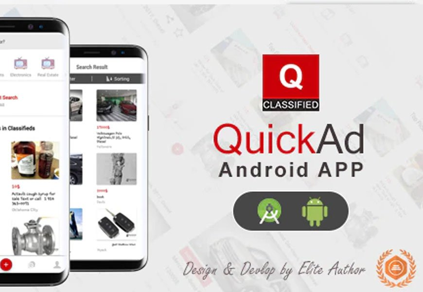 Quickad - Classified ads Android and iOS apps