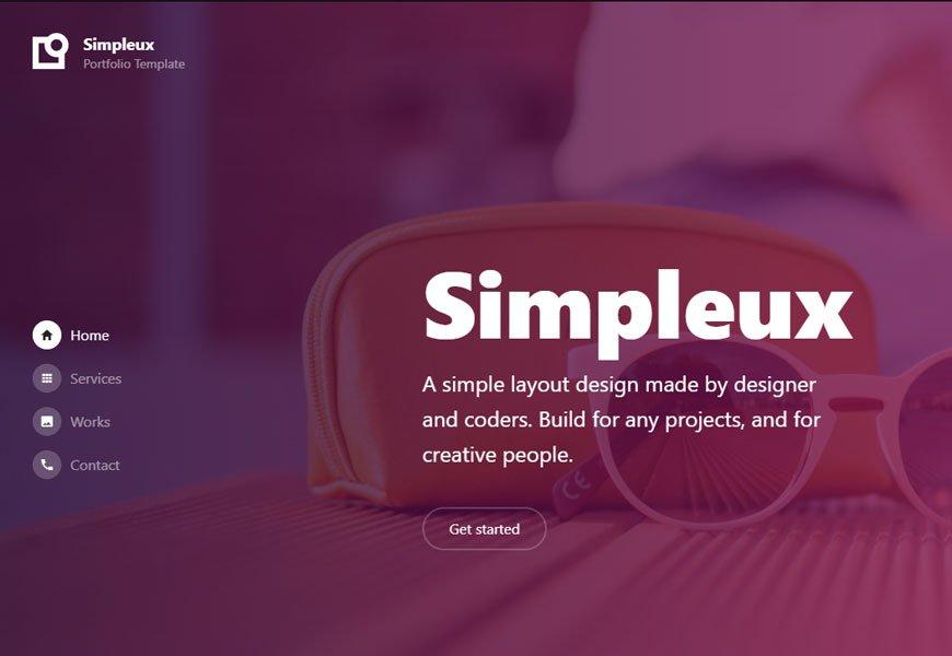 Simpleux - portfolio website template