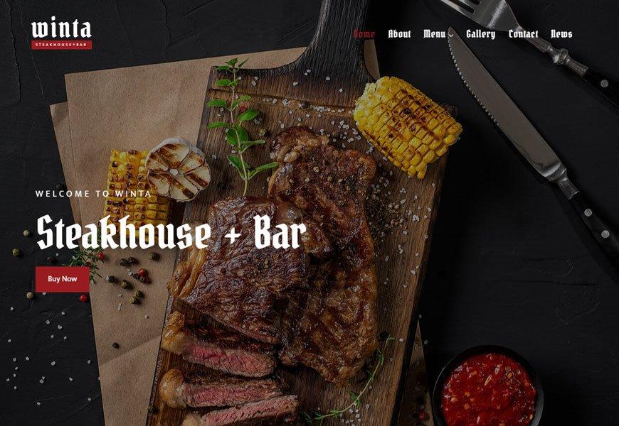 Winta - fast food restaurant website template