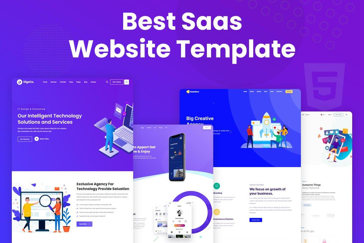 SaaS website templates