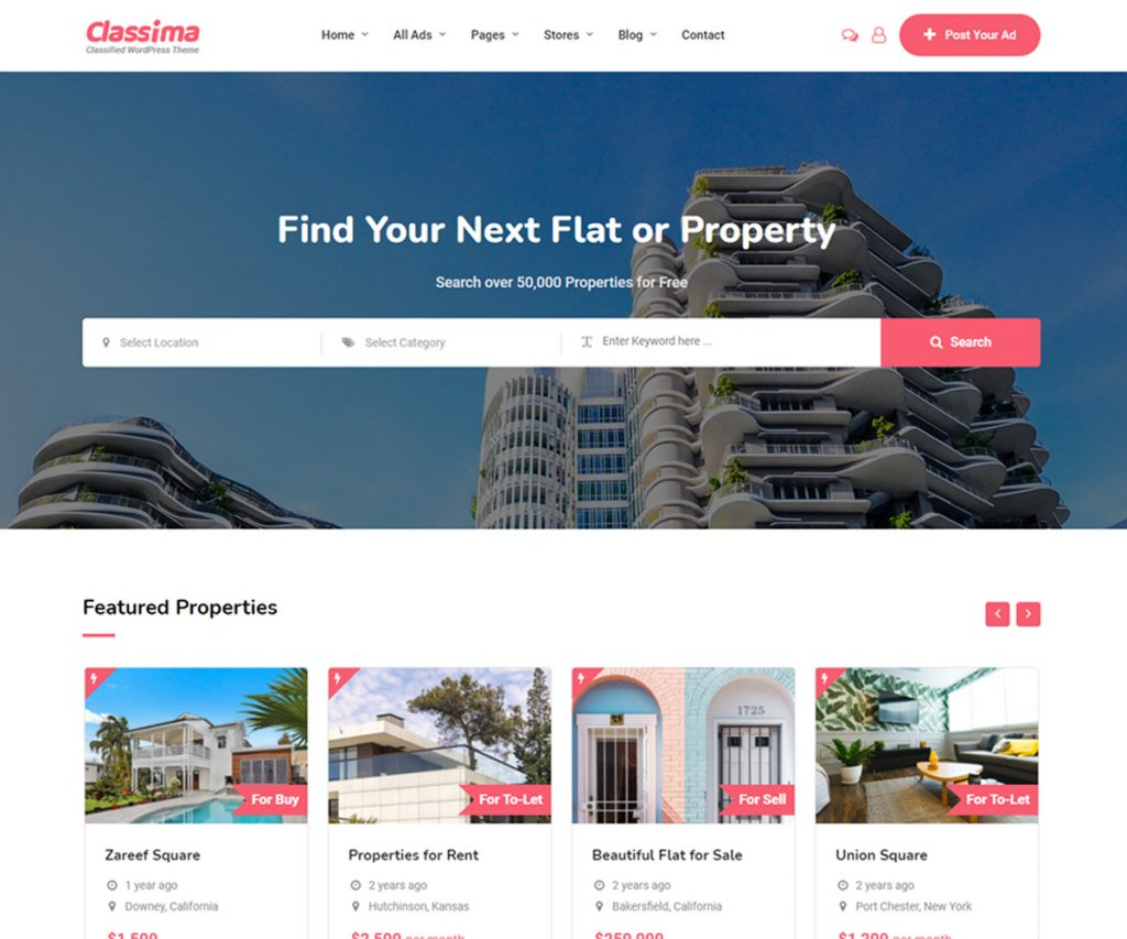 Classima - SEO optimized WordPress theme