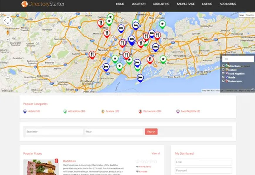 Directory Starter - best free directory WordPress theme