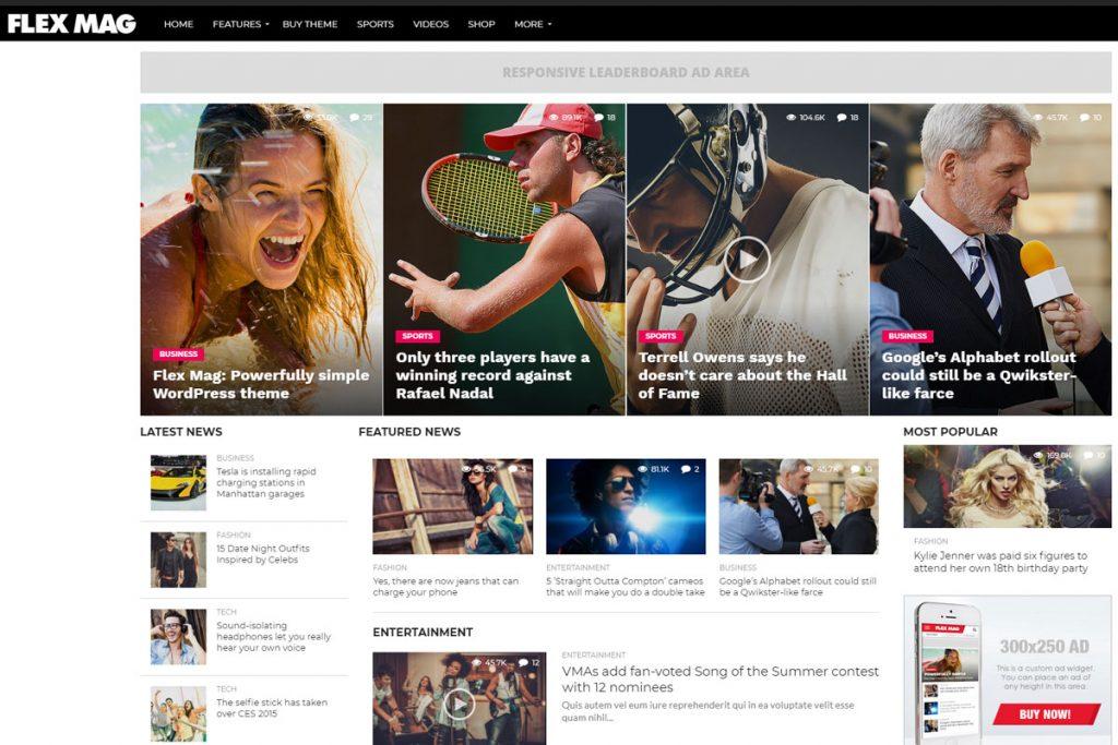 Flex Mag - best news WordPress theme