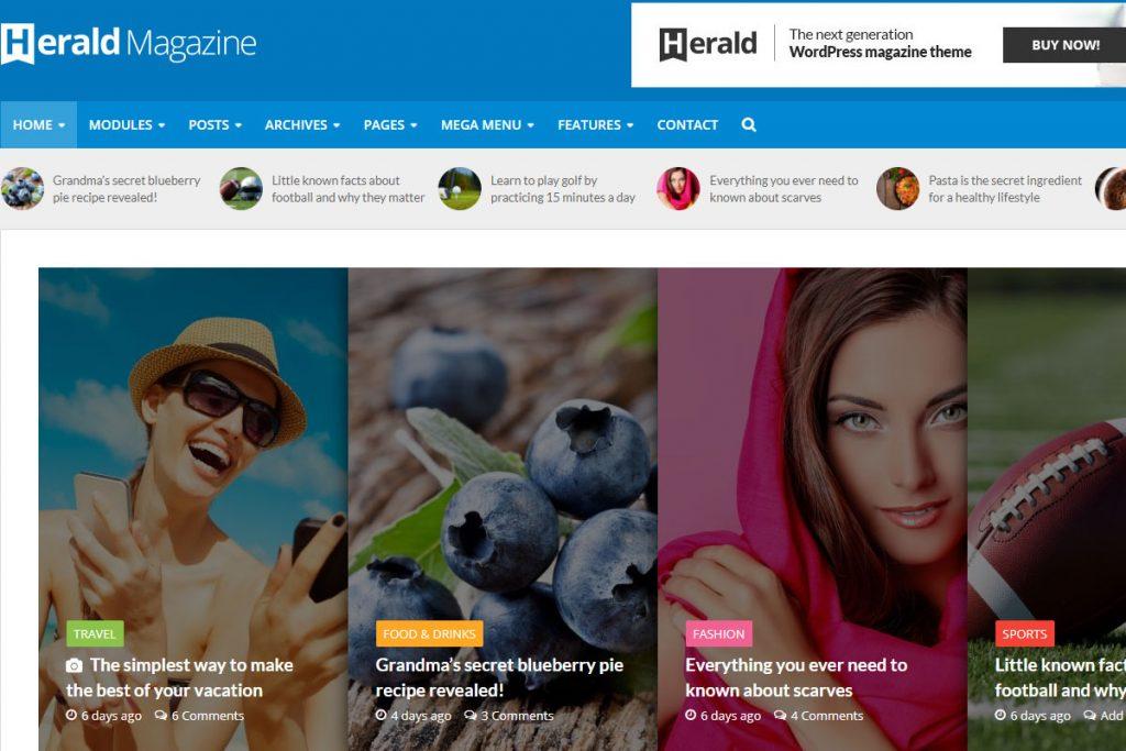 Herald - best news WordPress theme