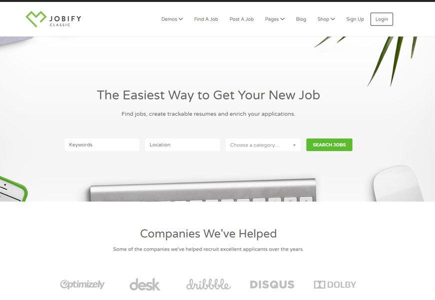 Jobify - best job board WordPress theme