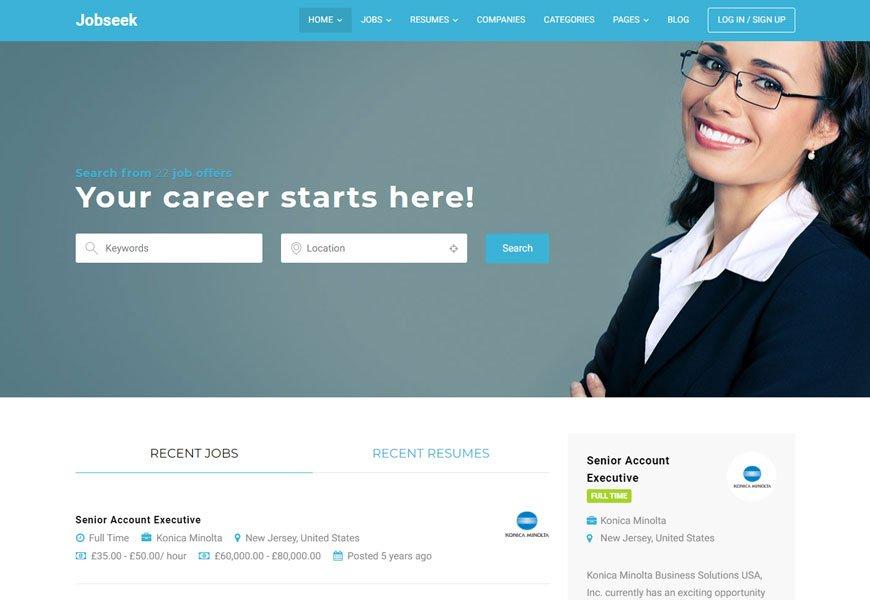 Jobseek - best job board WordPress theme