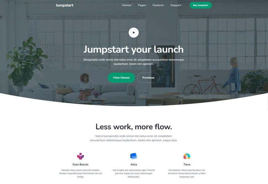 Jumpstart - saas html website template