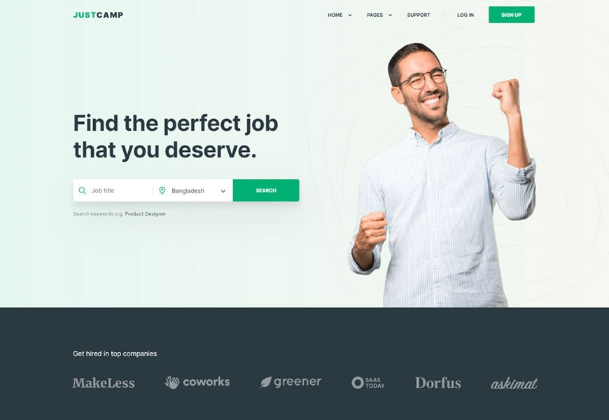 Justcamp - directory website templates