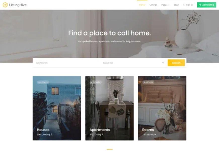 ListingHive - free directory WordPress theme