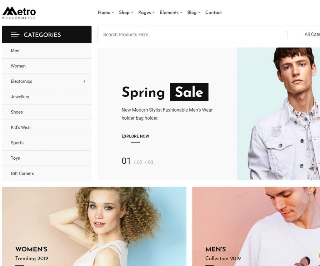 Metro - SEO friendly WordPress woocommerce theme