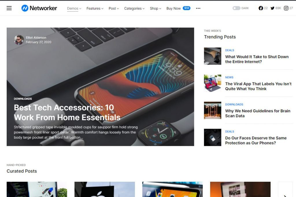 Networker - news WordPress theme