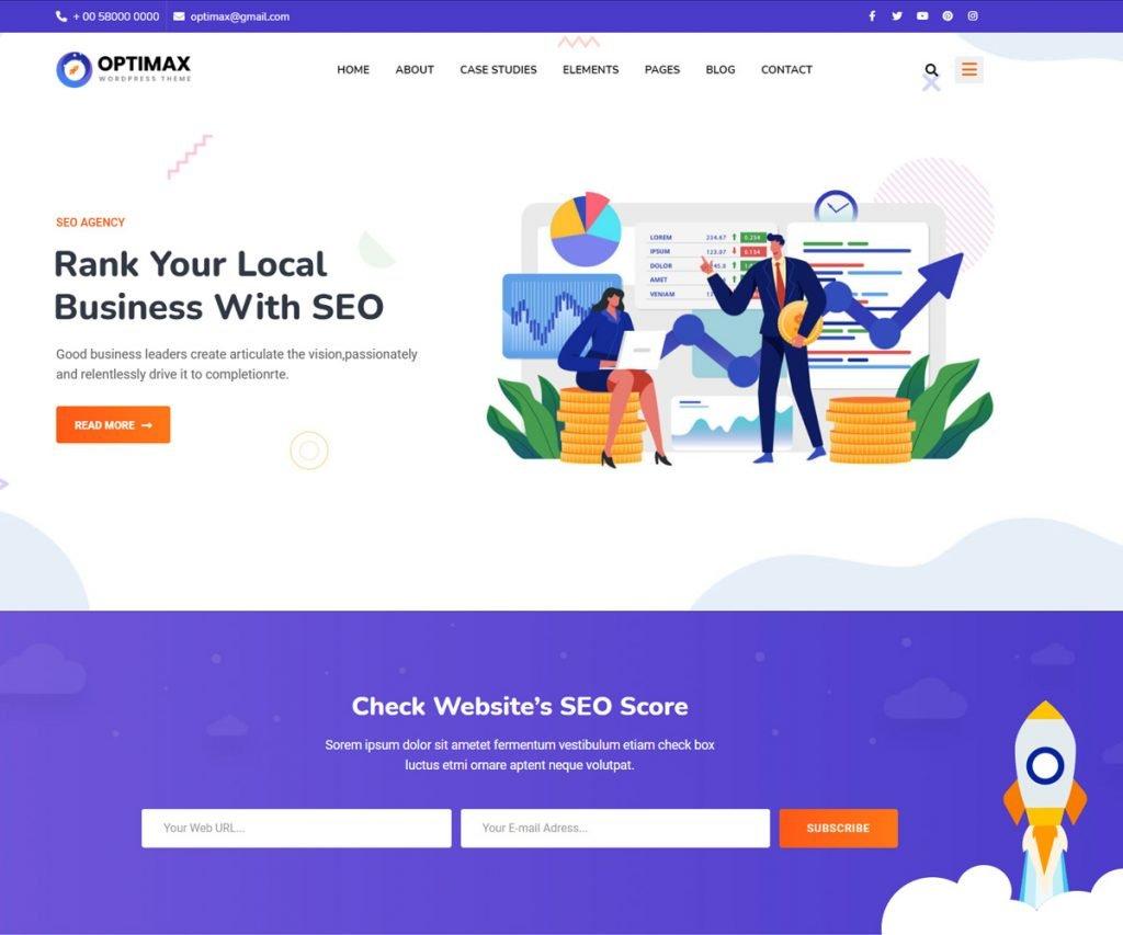 Opimax - SEO optimized WordPress theme
