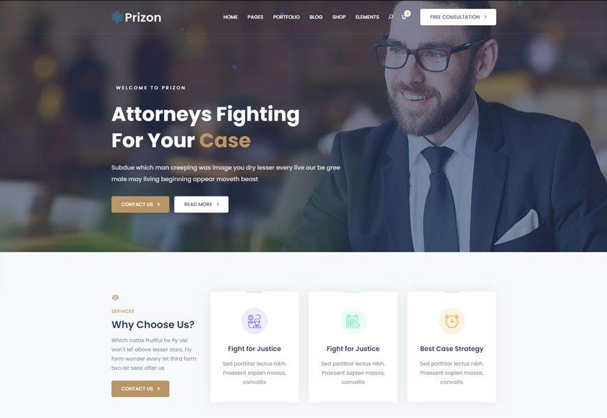 Prizon - saas html website template