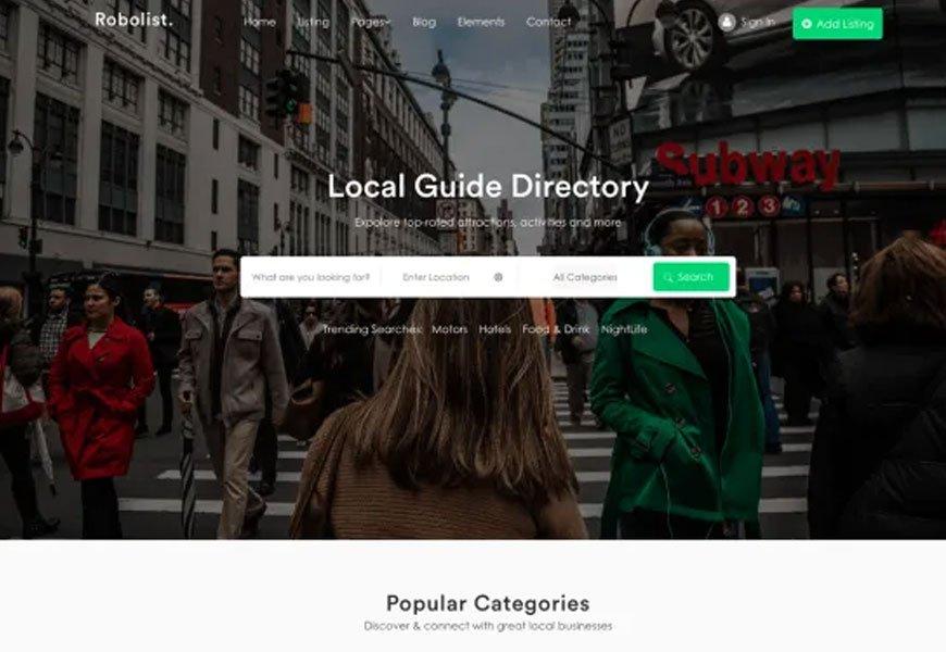 Robolist Lite - Best free directory WordPress theme