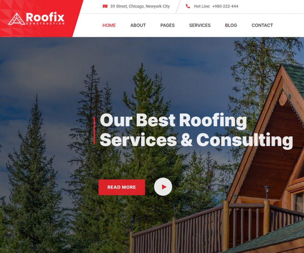 Roofix - best SEO optimized WordPress theme