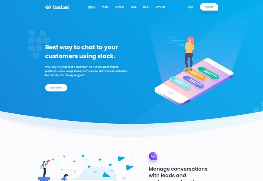 SaasLand  - SaaS website templates