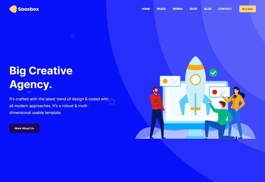 Saasbox - best SaaS website templates