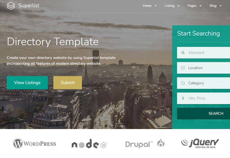 Superlist - directory website template