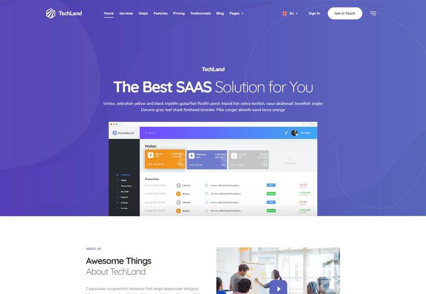 Techland - SaaS html website templates