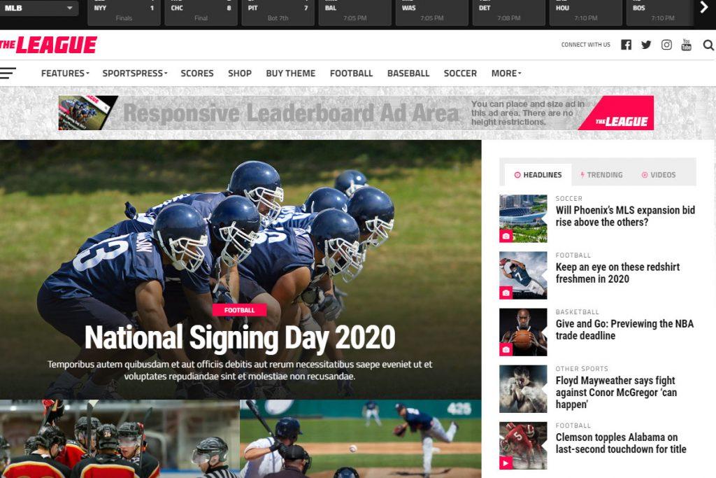 The League - best news WordPress theme