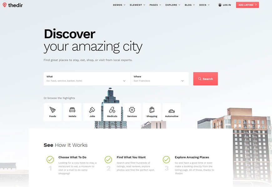 TheDir - directory website templates
