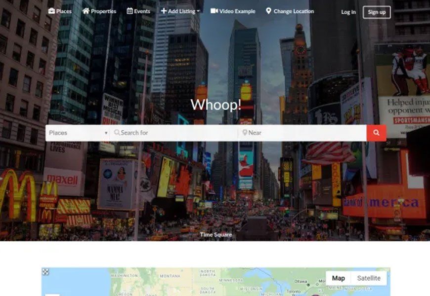 Whoop - free directory WordPress theme