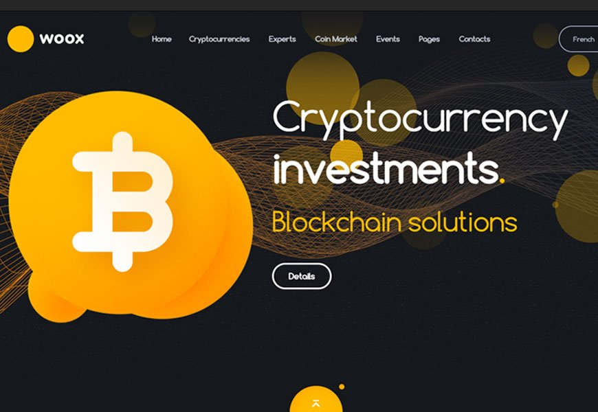 woox - Cryptocurrency Website Template