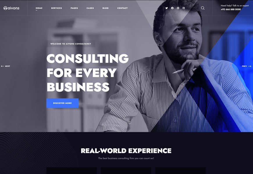 Aivons - business consulting website template